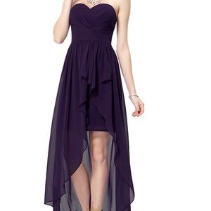 PURPLE HIGH-LOW DRESS! Great for Prom or an event.